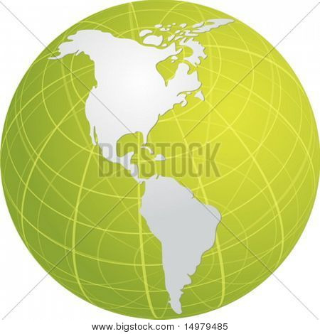 Globus Karte Abbildung der Kontinente Americas