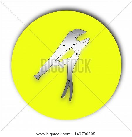 Realistic  pliers icon on white. Vector Illustration EPS10.