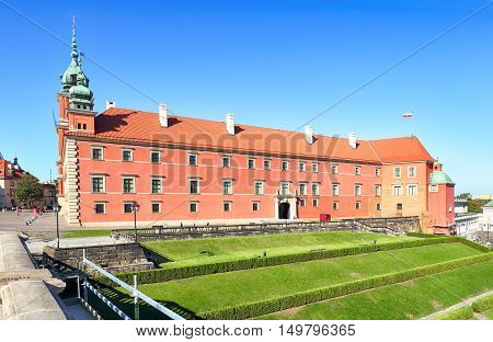 Royal Castle in Warsaw Poland at day