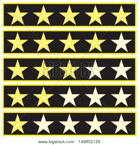 Elements star rank game interface. Ranking and rating icon vector illustration