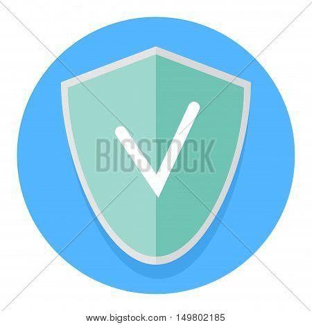 Icon antivirus application. Internet security and computer antivirus malware and firewall vector illustration