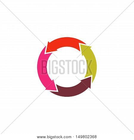 Recycle Icon Vector. Flat simple color pictogram