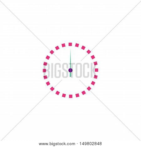 Time Icon Vector. Flat simple color pictogram