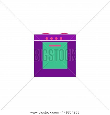 Oven Icon Vector. Flat simple color pictogram