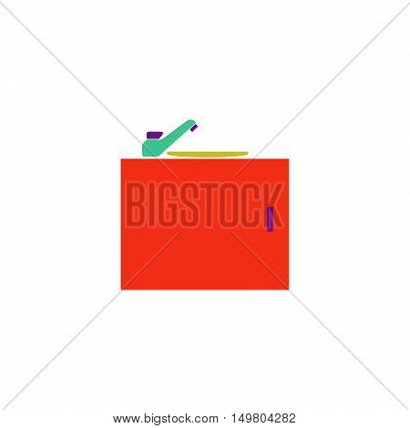 Washbasin Icon Vector. Flat simple color pictogram