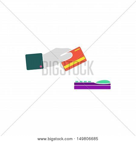 Payment credit card Icon Vector. Flat simple color pictogram