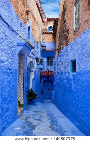 Medina of Chefchaouen, Morocco. Chefchaouen or Chaouen is a city in northwest Morocco.
