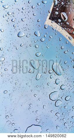 Raindrops on Window. Raindrops on car window. Rainy Day