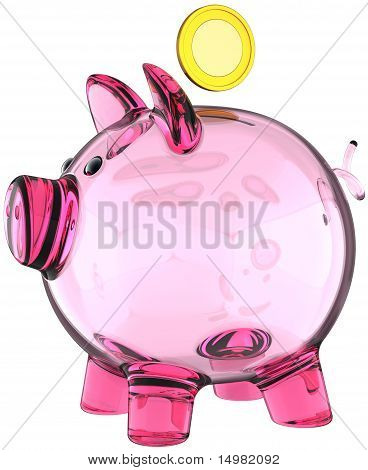 Piggy bank glass version