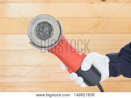 Circular Saw With An Abrasive Disk