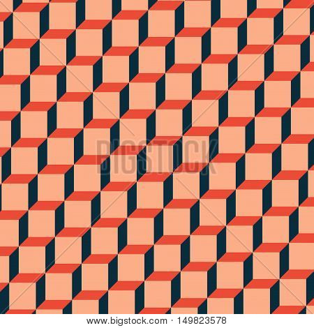 Abstract background with three different color cubes