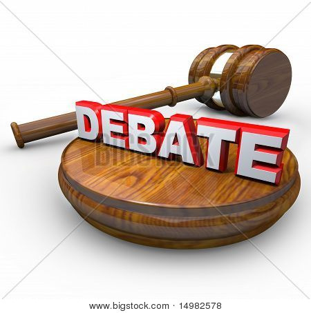 Debate - Judge Gavel And Word