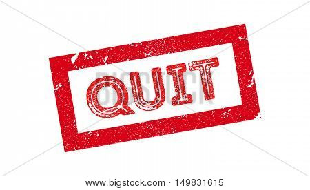 Quit Rubber Stamp