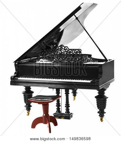 Grand piano isolated on white