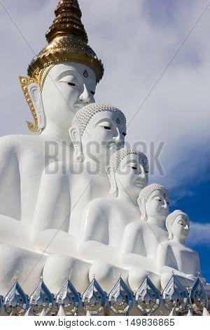Buddha statue at Wat Pha Sorn Kaew. Khao Kor Phetchabun Thailand.