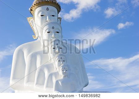 Buddha statue at Wat Pha Sorn Kaew. Khao Kor Phetchabun Thailand copyspace.