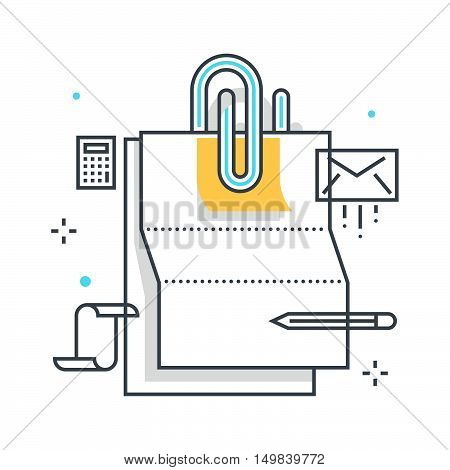 Paper Clip Illustration