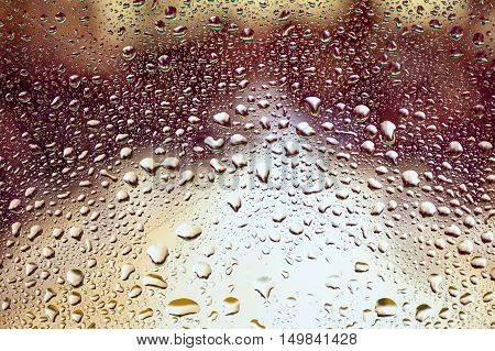 Abstract texture - Water drops on glass with vintage background