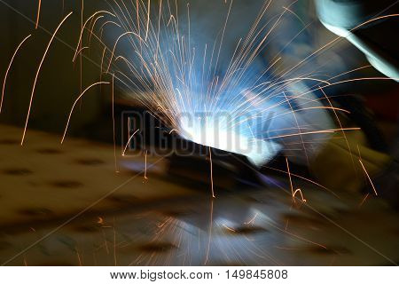 Magic glowing Flow of Sparks in the Dark.