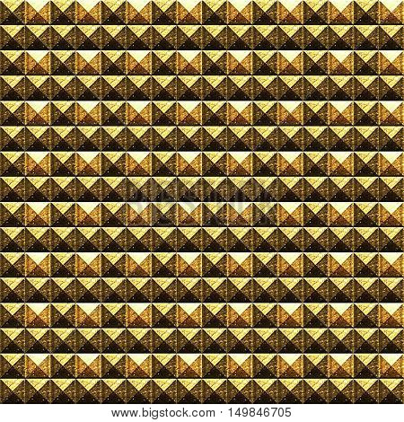 Template for decoration with gilded rhombus.Ornamental design.