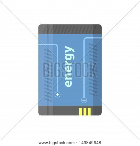 Battery flat colorful clipart isolated. Vector battery - energy and accumulator. Isolated on white background.