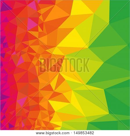 Abstract polygonal rainbow background. Geometric backdrop in Origami style. Beautiful vector illustration made from triangular shapes.
