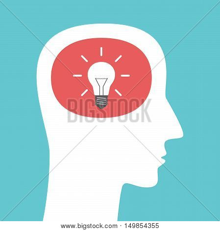 Head Silhouette With Lightbulb