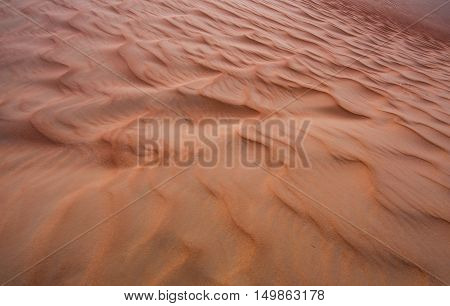Sand dunes of the Emty Quarter desert covering large area in UAE KSA and Oman