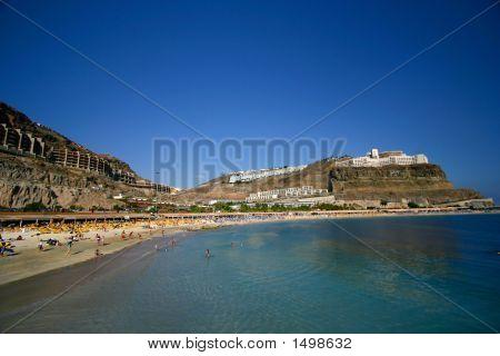 '' Playa De Amadores''. Amadores Beach In Gran Canaria