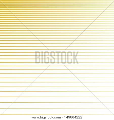 Line halftone pattern with gradient effect. Horizontal lines in golden colors. Template for backgrounds and stylized textures. Horizontally seamless. Vector eps8 illustration.