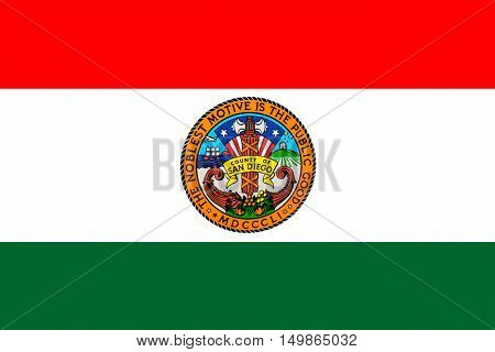 Flag of San Diego is a County in California United States