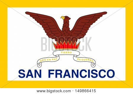 Flag of San Francisco of Northern California United States