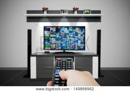Television Broadcast Multimedia Composition In Room And Remote Control