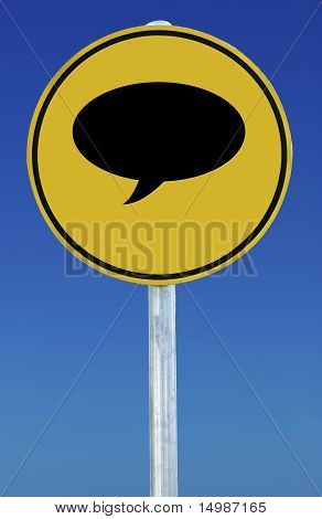 Speech Bubble Sign