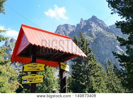 Guidepost In High Tatras