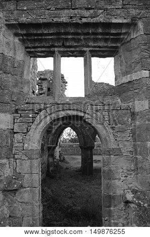 A view of the ruins of the medieval abbey at Balmerino