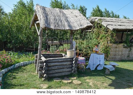 Well With A Thatched Roof