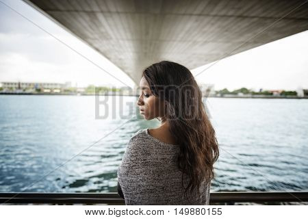 African American Attractive Confidence Female Girl Concept