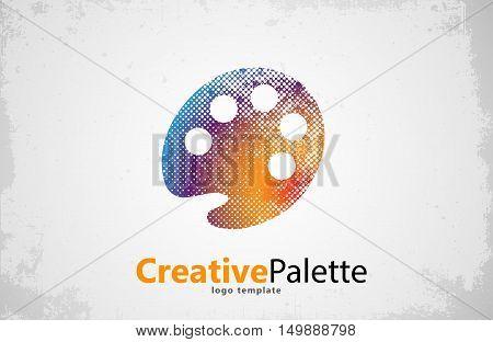 palette Icon. color palette symbol. art logo. creative palette