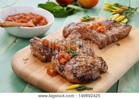 Summer Time Pork Chops