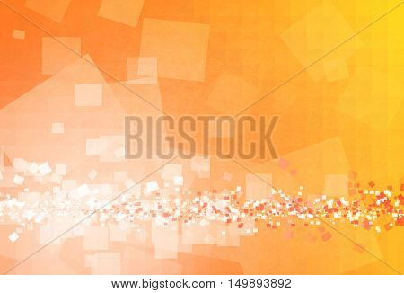 Computer generated yellow background with shapes, blurs, motion an light effects