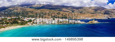 Amazing Greece - pictorial Andros island, panoramic view of Chora village