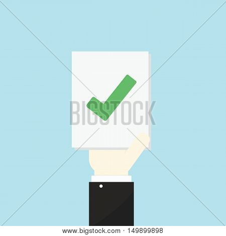 Voting Concept By Hand And Paper Right .