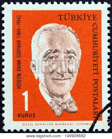 TURKEY - CIRCA 1964: A stamp printed in Turkey from the