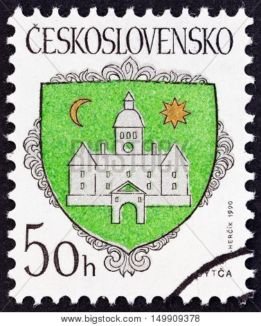 CZECHOSLOVAKIA - CIRCA 1990: A stamp printed in Czechoslovakia from the
