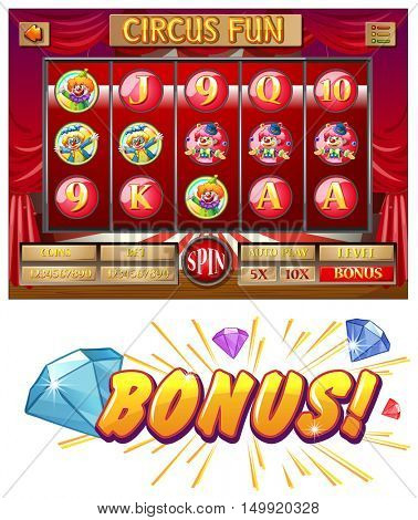 Slots game with circus theme
