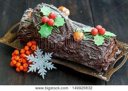 Homemade Christmas Chocolate ,,,, Log.
