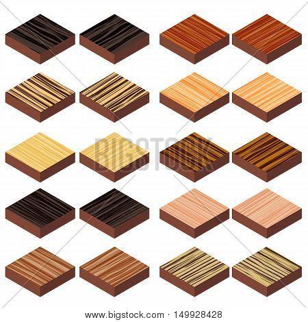 isometric zebrano wood floor design for decorative