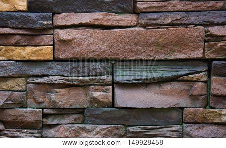 Texture Of Stone Masonry, Gray Background, Multi-colored Stone Background