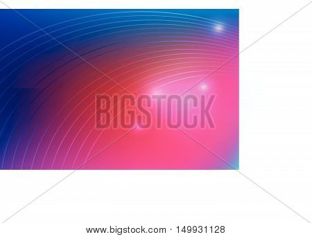 Abstract  Technology Blue And Pink Curve Vector Background